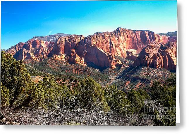 Kolob Canyons Greeting Card by Robert Bales