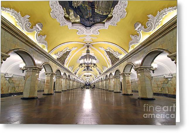 Komsomolskaya Station In Moscow Greeting Card by Lars Ruecker
