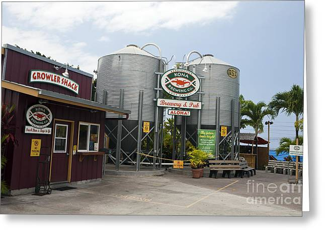 Kona Brewing Greeting Cards - Kona Brewing Company Greeting Card by Jason O Watson
