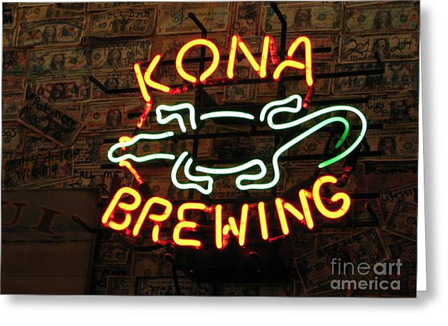 Kona Brewing Greeting Cards - Kona Brewing Company Greeting Card by Michael Krek