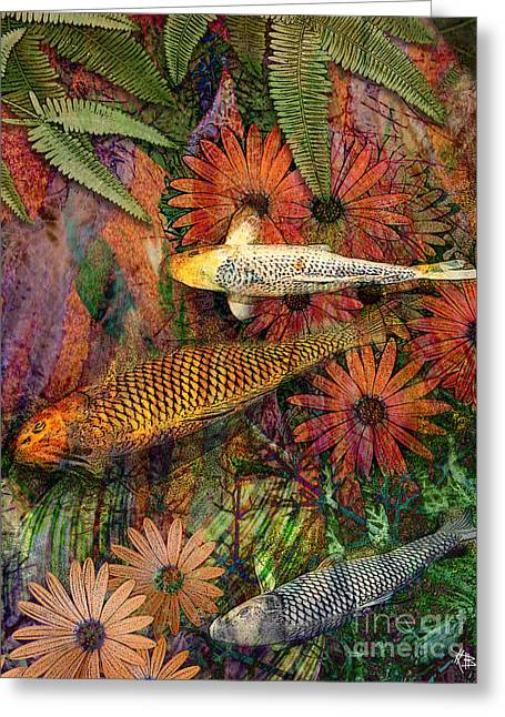 Floral Digital Digital Mixed Media Greeting Cards - Kona Kurry Greeting Card by Christopher Beikmann
