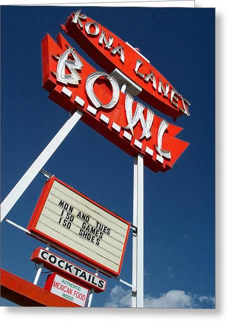 Costa Mesa Greeting Cards - Kona Lanes Greeting Card by Keith May