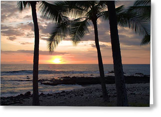 Ocean Images Greeting Cards - Kona Sunset Greeting Card by Brian Harig