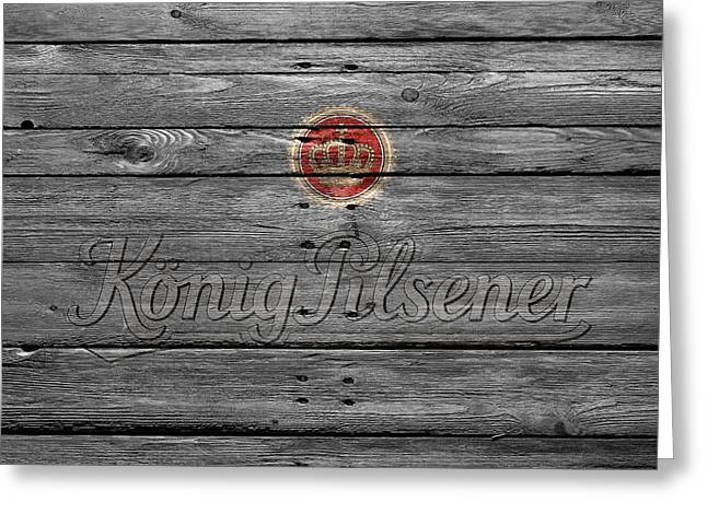 Konig Pilsener Greeting Card by Joe Hamilton