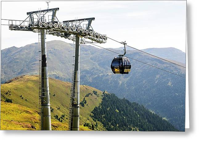 Konigsleiten Mountain Cable Car Greeting Card by Photostock-israel