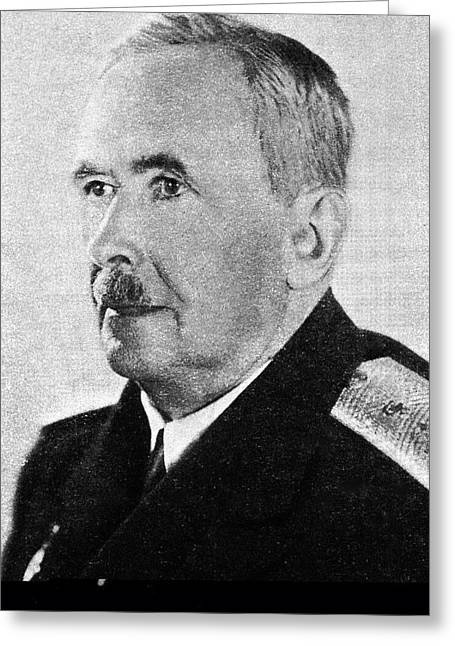 Science And Medicine Greeting Cards - Konstantin Bykov, Soviet physiologist Greeting Card by Science Photo Library