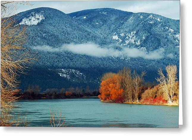 Annie Pflueger Greeting Cards - Kootenai River Greeting Card by Annie Pflueger