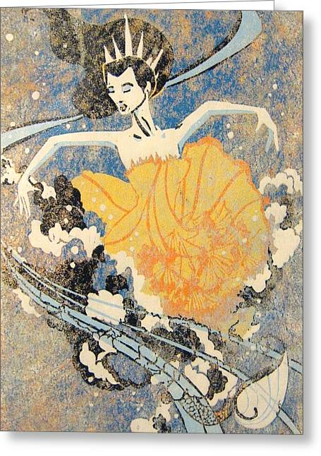 Dance Reliefs Greeting Cards - Kora Greeting Card by Jeslyn Cantrell