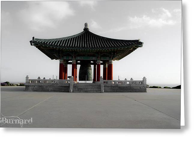 Korean Friendship Bell Greeting Card by Guinapora Graphics
