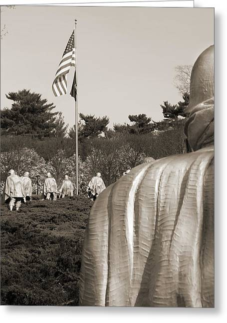 Korean Greeting Cards - Korean War Memorial  2 - Washington D.C. Greeting Card by Mike McGlothlen