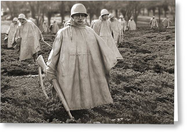 Korean Greeting Cards - Korean War Memorial - Washington D.C. Greeting Card by Mike McGlothlen