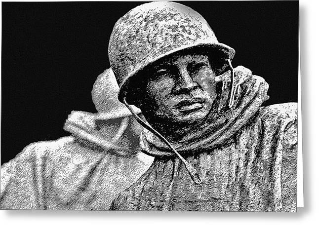 Brigade Greeting Cards - Korean War Veterans Memorial Greeting Card by  Bob and Nadine Johnston