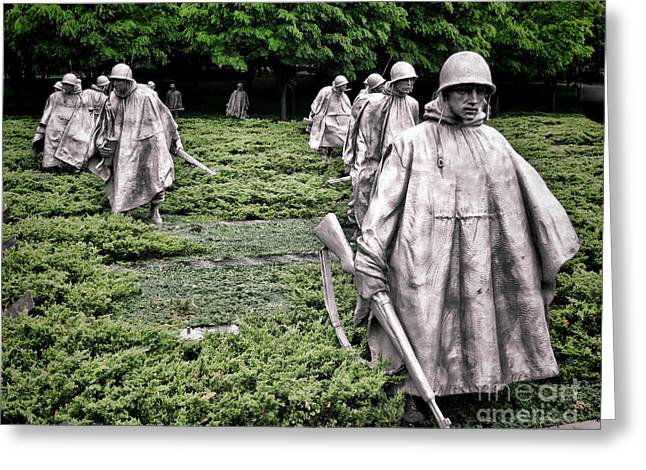 Korean War Veterans Memorial Greeting Card by Olivier Le Queinec