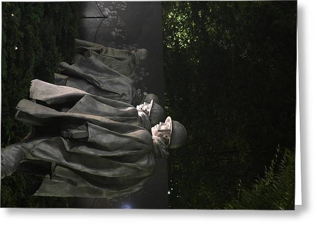 Korean War Veterans Memorial - Washington Dc - 01131 Greeting Card by DC Photographer