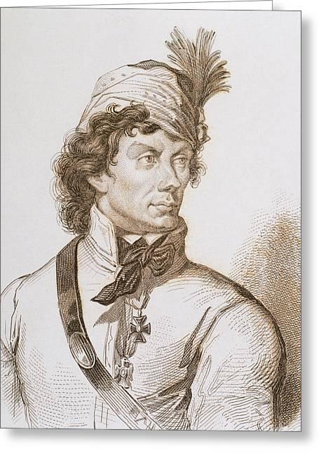 Kosciuszko, Tadeusz (1746-1817 Greeting Card by Prisma Archivo