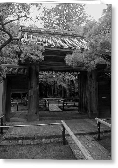 Kyoto Greeting Cards - Koto-in Zen Temple Entrance - Kyoto Japan Greeting Card by Daniel Hagerman