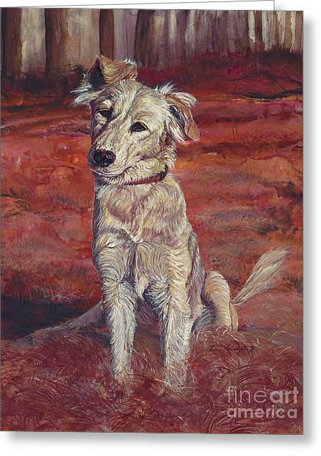 Recently Sold -  - Mixed Labrador Retriever Greeting Cards - Koukla Greeting Card by Tom Blodgett Jr