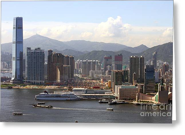 Clocktower Greeting Cards - Kowloon in Hong Kong Greeting Card by Lars Ruecker