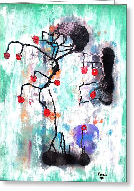 Kyoto Mixed Media Greeting Cards - Kyoto Spring Greeting Card by Roberto Prusso