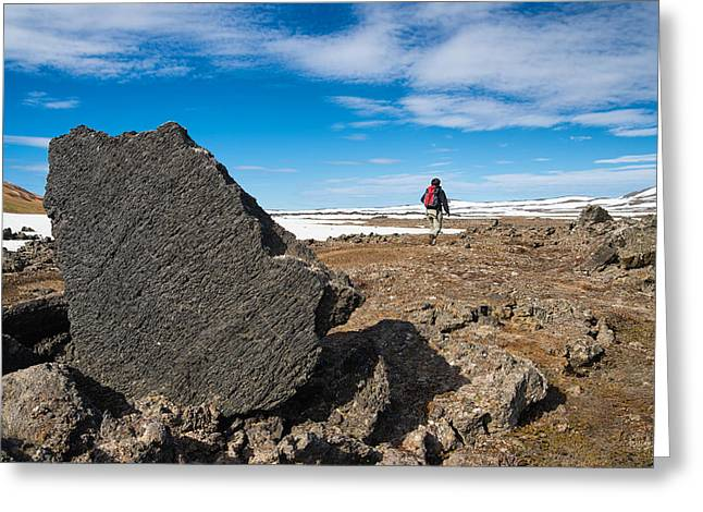 Field Rocks Greeting Cards - Krafla lava fields Leirhnjukur Iceland Greeting Card by Matthias Hauser
