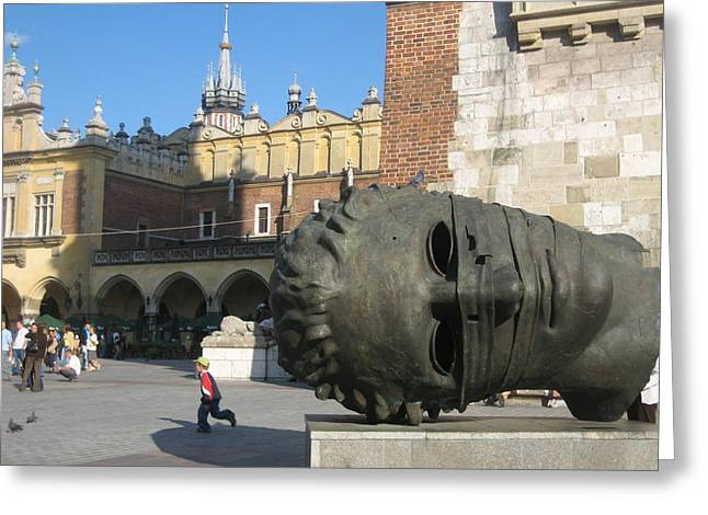 Topple Greeting Cards - Krakow Square Greeting Card by Kendell Timmers