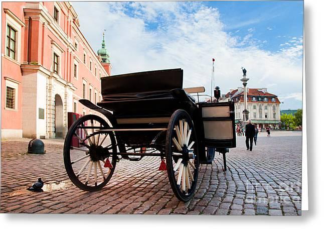Hackney Greeting Cards - Krakowskie Przedmiescie Warsaw Poland Greeting Card by Michal Bednarek
