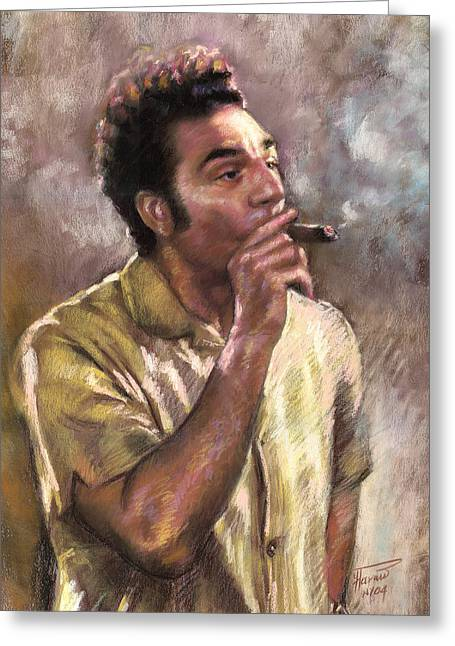 Smoking Greeting Cards - Kramer Greeting Card by Ylli Haruni
