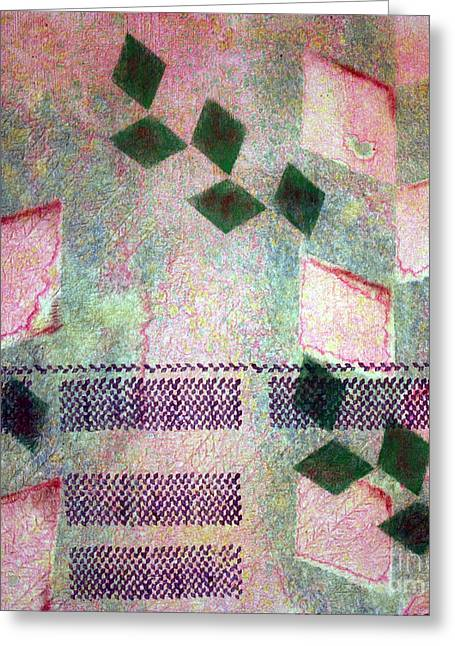 Abstract Shapes Tapestries - Textiles Greeting Cards - Krazy Kapa Greeting Card by Dalani Tanahy