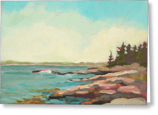 Maine Landscape Greeting Cards - Kresge Point Greeting Card by Mary Brooking