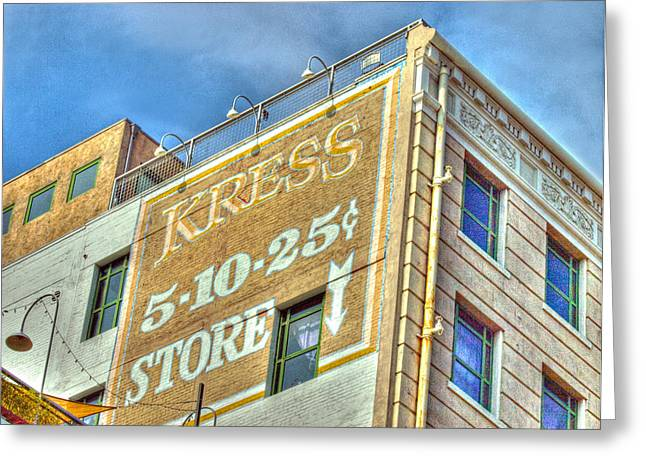 Dime Store Greeting Cards - Kressed  Greeting Card by Joe Schofield