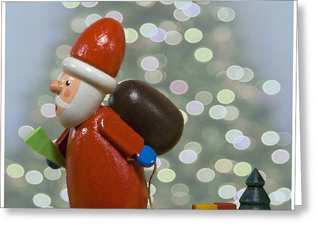 Celebrate Photographs Greeting Cards - Kris Kringle Greeting Card by Juli Scalzi