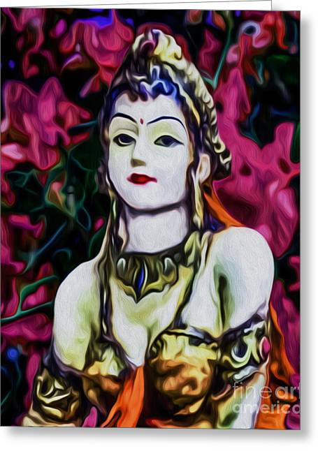 Goddess Durga Digital Art Greeting Cards - Krishnas Love Greeting Card by Tarik Eltawil