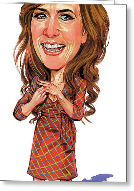 Kristen Wiig Greeting Card by Art