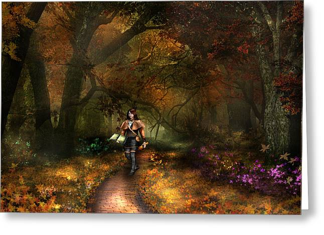 Kristi The Path Greeting Card by Vjkelly Artwork