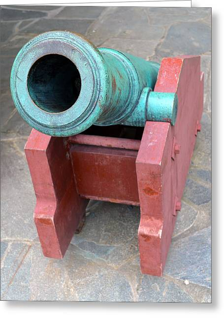Archbishop Greeting Cards - The Archbishops Residence Cannon Greeting Card by Carol  Eliassen