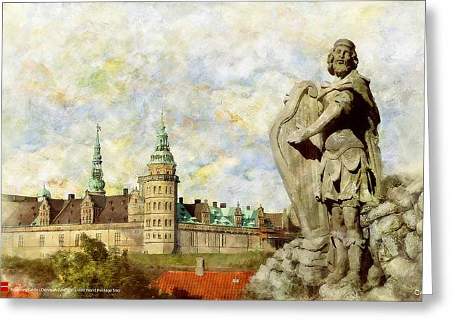 Denmark Greeting Cards - Kronborg Castle Greeting Card by Catf