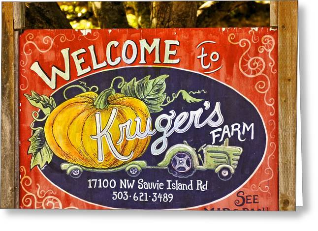 Sauvie Island Greeting Cards - Krugers Farm Greeting Card by Image Takers Photography LLC - Carol Haddon