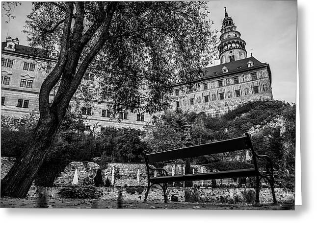 Geschichte Greeting Cards - Krumlov Castle Greeting Card by Lubos Kavka