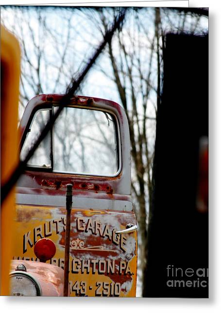 Old Trucks Greeting Cards - Kruts Garage  Greeting Card by Steven  Digman