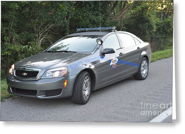 Police Cruiser Greeting Cards - KSP Cruiser Greeting Card by Steven Townsend