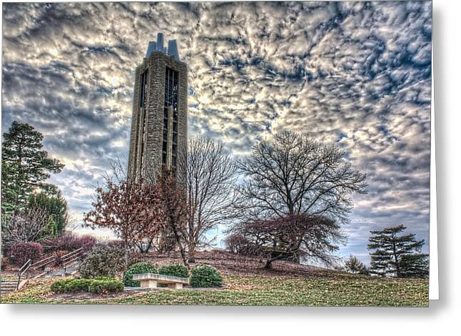 Duke Greeting Cards - KU Campanile Greeting Card by Corey Cassaw