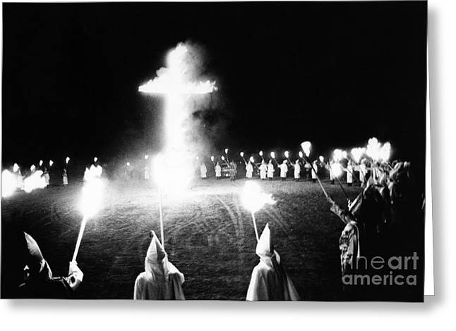 Rally Greeting Cards - Ku Klux Klan Rally Greeting Card by Bruce Roberts