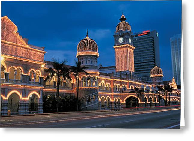 Dark Clouds. Greeting Cards - Kuala Lumphur Malaysia Greeting Card by Panoramic Images