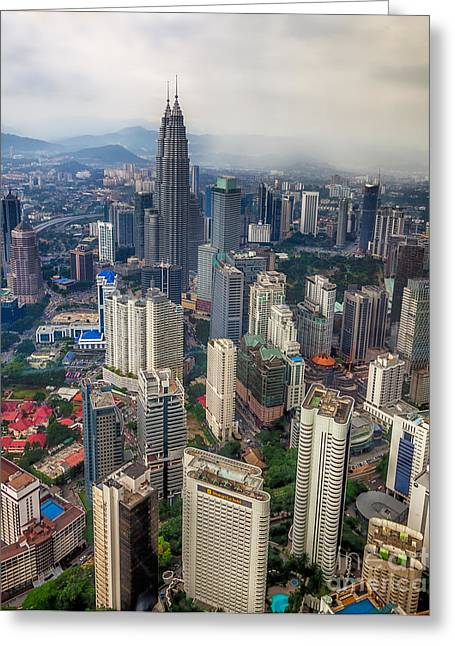 Twin Towers Greeting Cards - Kuala Lumpur City Greeting Card by Adrian Evans
