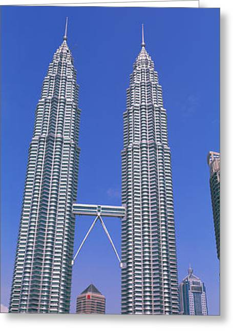 Twin Towers Greeting Cards - Kuala Lumpur, Malaysia Greeting Card by Panoramic Images