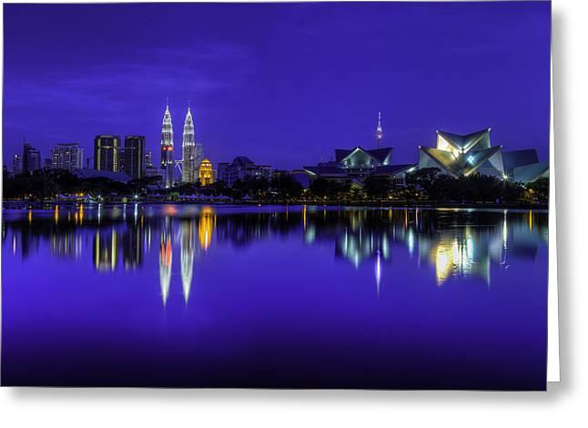 Kuala Lumpur Skyline Greeting Card by Mario Legaspi