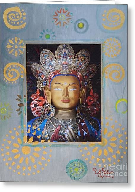 Kuan Greeting Cards - Kuan Yin - God of Compassion Greeting Card by To-Tam Gerwe