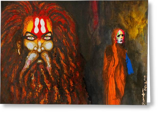 Installation Art Paintings Greeting Cards - Kumbh Greeting Card by Sumit Banerjee