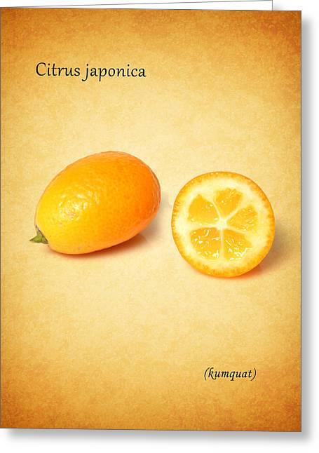 Citrus Leaf Greeting Cards - Kumquat Greeting Card by Mark Rogan