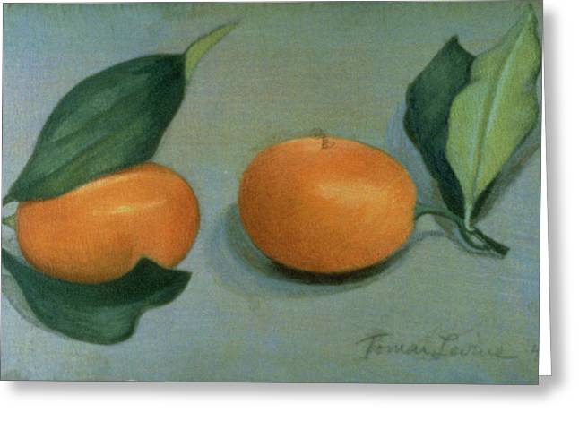 Exotic Fruit Greeting Cards - Kumquats Wc On Paper Greeting Card by Tomar Levine